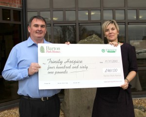 Group Sales Manager at Barton Park Homes, Natalie Bromley, Corporate Fundraiser at Trinity Hospice