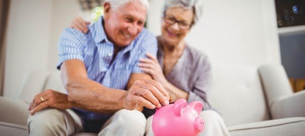 Elderly pensioners saving money the smart way