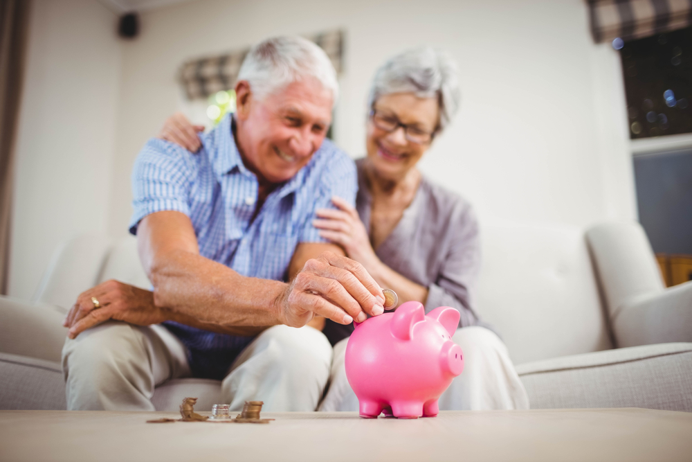 Elderly pensioners saving money the smart way