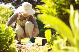 elderly lady gardening at barton park homes