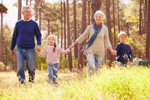 barton park homes walking with grandchildren